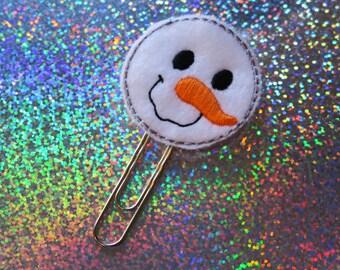Snowman Planner Clip