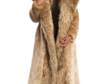 Far Horizon (Long) Faux Fur Coat - Golden Tan