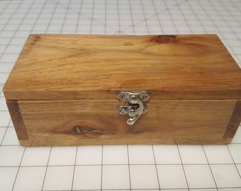 Hinged Wood Box w/ Latch 1