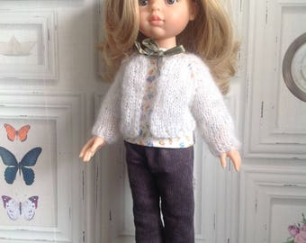 """""""Mohair and silk"""" jacket for Paola Reina and Corolle doll"""
