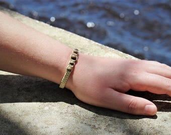 5 Bead Macrame Bracelet