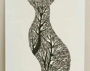Fox Tree Silhouette VI