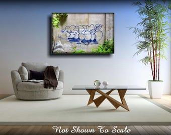Graffiti Art Canvas, Large Canvas Art, Large Wall Art Canvas, Graffiti Art For Sale, Graffiti Art, Canvas Art, Graffiti Canvas, Lowbrow Art