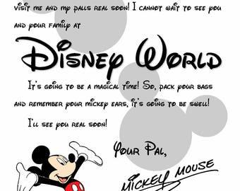 invitation from mickey to disney world