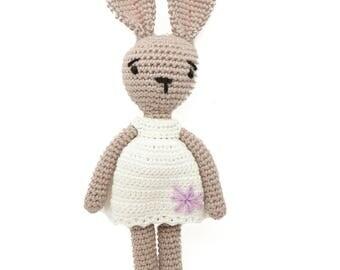 Caramel mon lapin adoré / poupée lapin /poupée fait main / bunny doll / crocheted doll / hand made doll