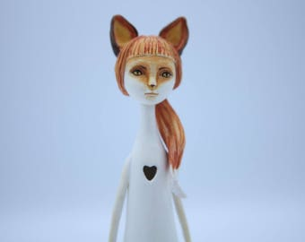 Fox, spirit of the forest doll/lamp