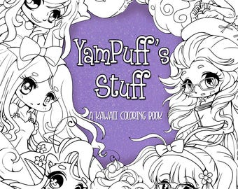 YamPuffs Stuff A Digital Coloring Book Full Of Kawaii