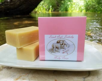"Baby Soap - ""Lamb Soft Lullaby"" Unscented Soap, Pink Soap, Sheep Soap, Lamb Soap, Baby Shower Soap, Baby Girl, Baby Gift Soap, Castile Soap"