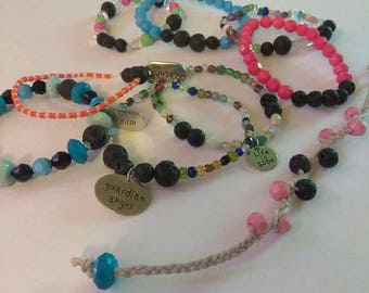 Lava Stone Bracelets-One Of A Kind-Hand Crafted