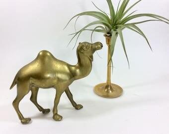 Brass Camel Figurine, Brass Camel Statue