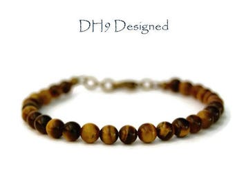 Tigers Eye Bracelet, Mens Bracelet, Mens Jewellery, Mens Valentines Gift, Fathers Day gift, Boyfriend Gift, Gift For Him, Mens Birthday Gift