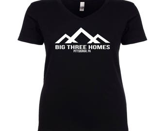 This Is Us Big Three Homes Women's V-neck Shirt S-XXXL