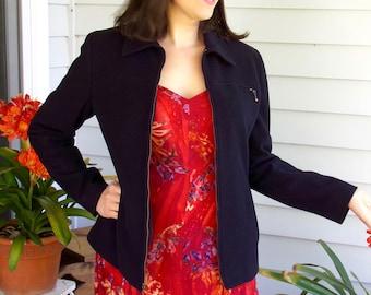 Women's Blazer, Women's Jacket Size 6, Wool Blazer