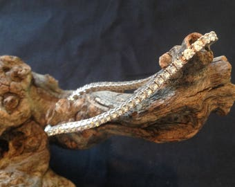 Vintage Sterling Cubic Zirconia Bracelet