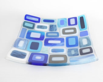 Large Fused Glass Bowl