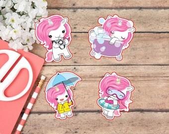 Die Cut Stickers: Agnes the Unicorn