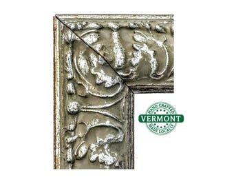 Ornate SILVER Picture Frame, Antique Silver Ornate Wood Photo Frame, 4x6 5x7 9x9 8x10 8.5x11 10x12 12x12 11x14 16x20 17x20 23x27 24x30 24x36
