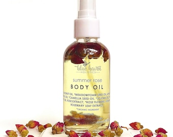 ROSE BODY OIL, Bath & Body Oil, Vegan Body Oil, Body Hydration, Skin Moisturizer, Massage Oil, Moisturizer, Jojoba oil