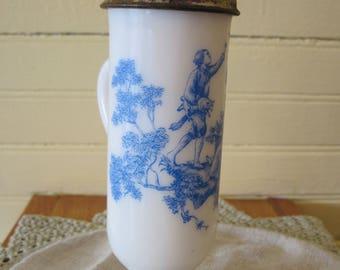 Avon Demitasse/Espresso Blue Toile Cup - Item #1460
