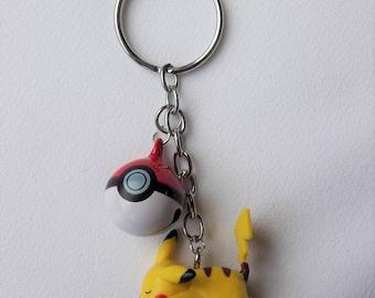 Sleeping Pikachu Inspired Pokemon Pokeball Charm Keychain - Geeky Nerd Nintendo Inspired Gamer Fashion