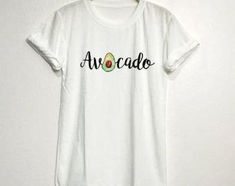 Avocado T-Shirt Gifts Graphic Tee Tops Clothing Unisex Adults Size S M L XL
