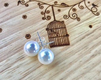 100 % Sterling Silver Earrings with freshwater pearl