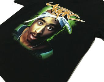 Vtg 90s 2Pac double sided t-shirt