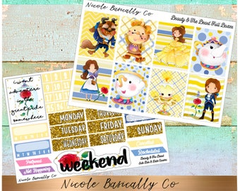 Beauty And The Beast Full Kit for use with Vertical Erin Condren Life Planner and other planners