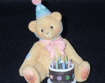 Enesco Cherished Teddies 1998 Age 8 Figurine #466247 Mint in Box