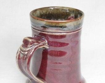 Unique red 12 oz coffee mug cup