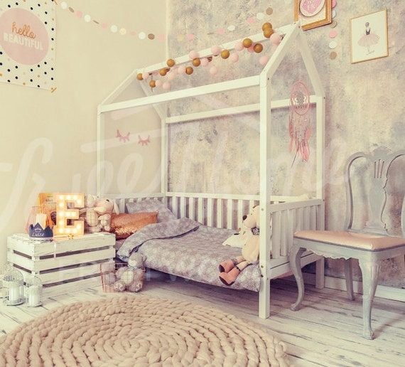 Like this item? & Wood bed CRIB SIZE child bed toddler bed children bed