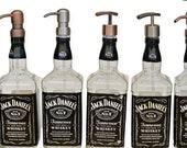 20% Off! Jack Daniels Whiskey Soap Dispenser / Glass Spray Bottle / Bathroom Soap Pump Bottle Kitchen Glass Soap Dispensers / Dad Gift