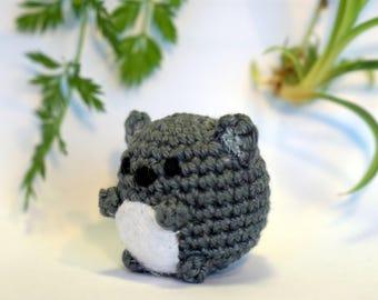 koala plushie keychain - crochet amigurumi