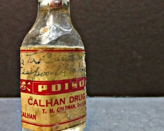 Antique Poison Calhan Drug Pharmaceutical Bottle