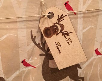 Wooden Holiday Gift Tags