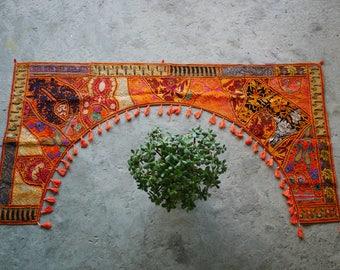 Door toran, bohemian home decor, colorful window toran, Indian wall hanging, patchwork gypsy curtains, hippie door frame, ethnic tapestry