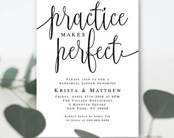 Rehearsal invite template Rehearsal invitation template Practice makes perfect Rehearsal dinner ideas Rehearsal invitation template #vm41
