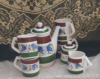 Japan 50/23 Teapot Mugs Sugar Creamer