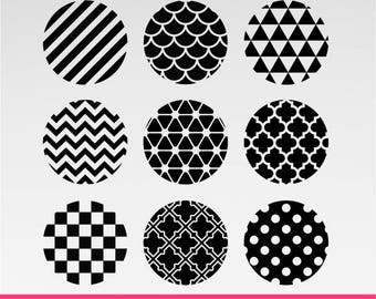 Circle Pattern SVG, DXF, PNG Formats 0073