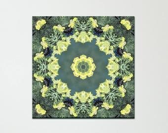 Blue Lake Mandala print on canvas ~ Visionary art ~ Feng Shui  wall decor for Health, Wealth and Growth ~ Nature Photography ~ Australia