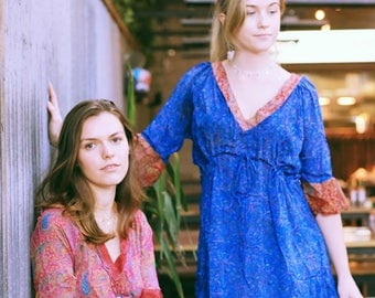 The Gemini Dress/ Blue