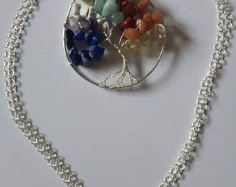 Life tree gemstones sterling silver 925