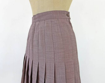 Pleated skirt color taupe, grey pink, 80s schoolgirl skirt, pleats, for all seasons