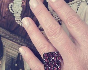 Victorian Garnet Ring 8 KT (size 6.25)