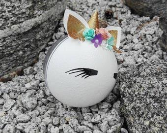 Fairytale Unicorn Christmas Ornament, Baby's First Christmas Bauble, Unicorn Ornament, Baby Girl Christmas Ornament, Unicorn Baby Gift