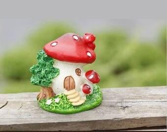 Mold Silicone mushroom house 3D Fleur Fairy 5.5 cm for Fimo plaster WEPAM porcelain wax SOAP, resin clay Fimo Terrarium