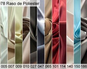 978 polyester satin sample of 6 x 10 CM