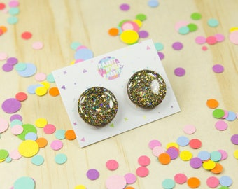 Golden Cosmic Statement Studs