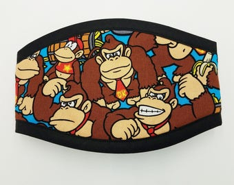 DONKEY KONG FACES Premium Quality Belly Band /Your Choice Border / Dog Diaper /Dog Potty Training Aid / Incontinence Wrap Male Dog Puppy