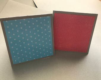 8 pc Mini Note Cards Set: 3x3 Cards; All Occasion; Gift Enclosure; Tag